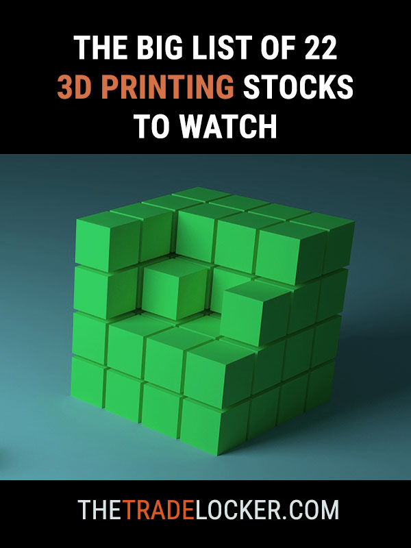 The Big List Of 3d Printing Stocks The Trade Locker