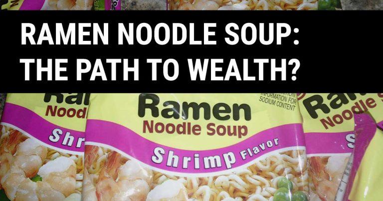 ramen noodle soup food budget